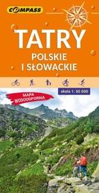 TATRY POLSKIE I SŁOWACKIE laminowana mapa turystyczna 1:50 000 COMPASS 2020