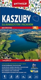 KASZUBY DLA ROWERZYSTÓW I PIECHURÓW mapa turystyczna wodoodporna 1:60 000 STUDIO PLAN 2020