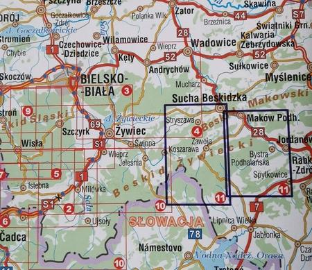 BESKID ŻYWIECKI CZ. WSCH I ZACH komplet map turystycznych 1:25 000 STUDIO PLAN (3)