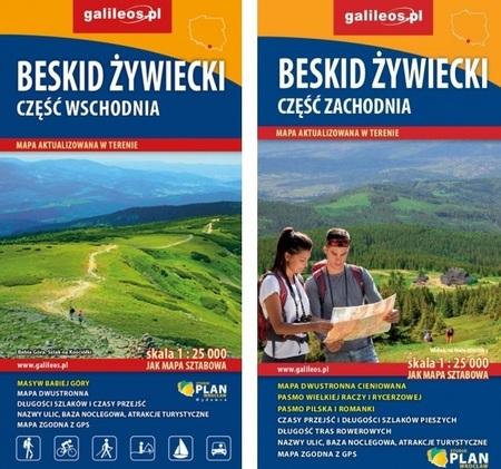 BESKID ŻYWIECKI CZ. WSCH I ZACH komplet map turystycznych 1:25 000 STUDIO PLAN (1)