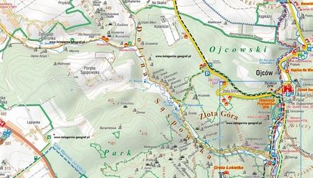 OJCOWSKI PARK NARODOWY mała mapa laminowana 1:20 000 COMPASS 2020 (3)
