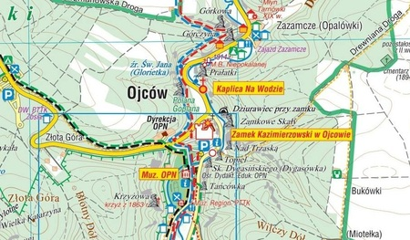 OJCOWSKI PARK NARODOWY mapa turystyczna laminowana 1:20 000 COMPASS 2020 (2)