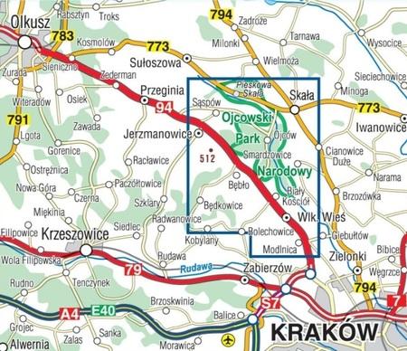 OJCOWSKI PARK NARODOWY mapa turystyczna laminowana 1:20 000 COMPASS 2020 (3)