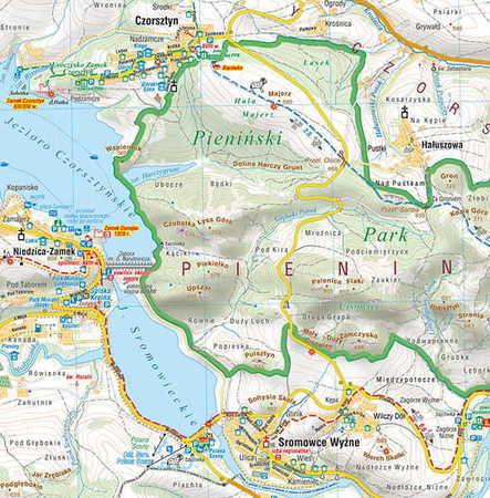 PIENINY kieszonkowa mapa wodoodporna COMPASS 2020 (2)