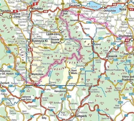 MASYW ŚNIEŻNIKA GÓRY BIALSKIE mapa turystyczna laminowana :35 000 COMPASS 2020 (2)