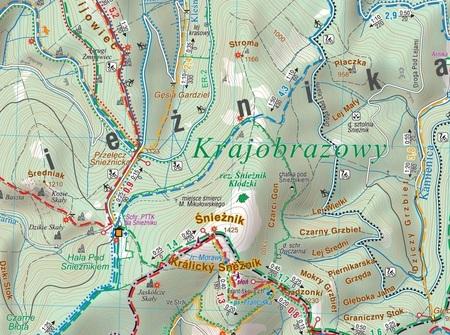 MASYW ŚNIEŻNIKA GÓRY BIALSKIE mapa turystyczna laminowana :35 000 COMPASS 2020 (4)