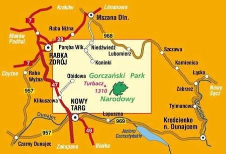 GORCZAŃSKI PARK NARODOWY mapa turystyczna 1:25 000 COMPASS 2020 (2)