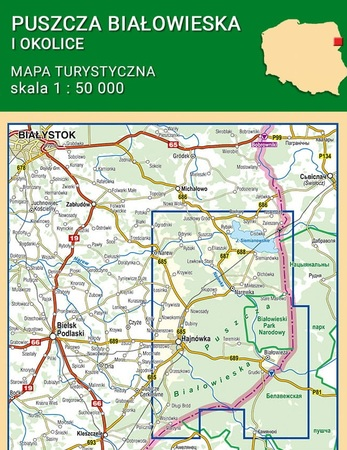PUSZCZA BIAŁOWIESKA I OKOLICE mapa turystyczna 1:50 000 COMPASS 2020 (5)