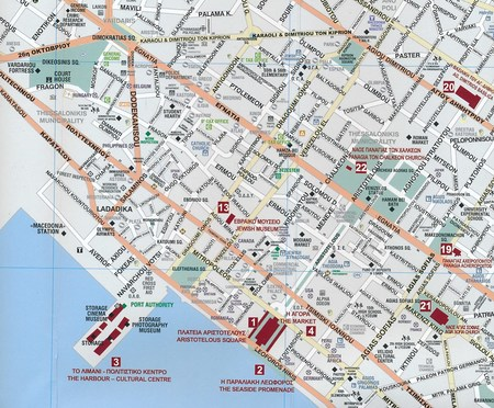 THESSALONIKI SALONIKI plan miasta laminowany 1:7 000 NAKAS ROAD CARTOGRAPHY (2)