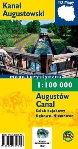 KANAŁ AUGUSTOWSKI laminowana mapa turystyczna 1:100 000 TD