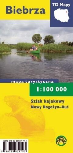 BIEBRZA laminowana mapa turystyczna 1:100 000 TD