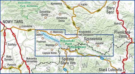 PIENINY mapa turystyczna 1:25 000 COMPASS 2020 (2)