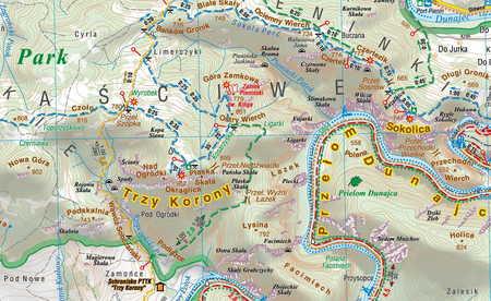 PIENINY mapa turystyczna 1:25 000 COMPASS 2020 (4)