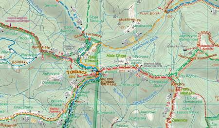 GORCE laminowana mapa turystyczna 1:40 000 COMPASS 2020 (2)