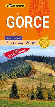 GORCE laminowana mapa turystyczna 1:40 000 COMPASS 2020 (1)