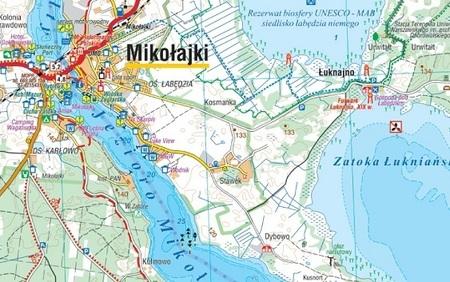 MAZURY SZLAK KRUTYNI JEZIORO ŚNIARDWY mapa laminowana 1:60 000 COMPASS 2020 (2)