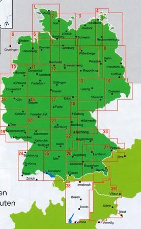 TYROL POŁUDNIOWY J.GARDA TRYDENT mapa rowerowa 1:150 000 ADFC 2020 (3)