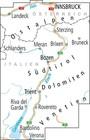 TYROL POŁUDNIOWY J.GARDA TRYDENT mapa rowerowa 1:150 000 ADFC 2020 (2)