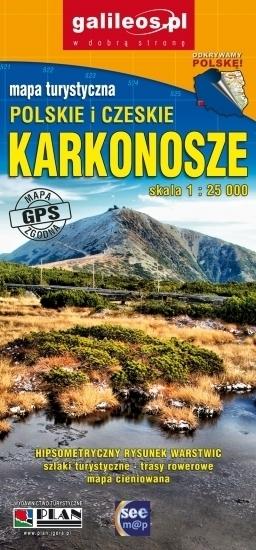 KARKONOSZE POLSKIE I CZESKIE laminowana mapa turystyczna 1:25 000 PLAN 2020