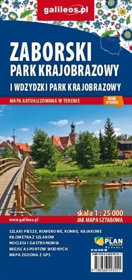 WDZYDZKI I ZABORSKI PARK KRAJOBRAZOWY mapa turystyczna 1:25 000 STUDIO PLAN 2020