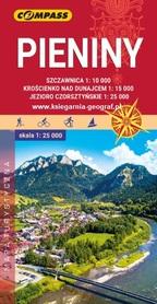 PIENINY mapa turystyczna laminowana 1:25 000 COMPASS 2020