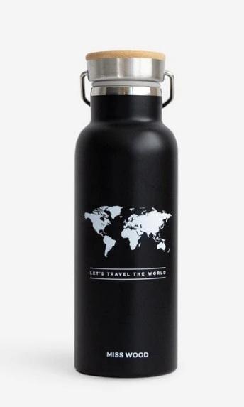 BUTELKA BIDON BLACK Woody bottle MISS WOOD (1)