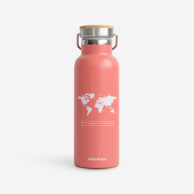 BUTELKA BIDON PINK Woody bottle MISS WOOD