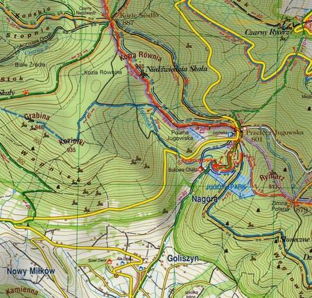 GÓRY SOWIE KOPLEKS RIESE mapa turystyczna 1:35 000 STUDIO PLAN 2020 (2)