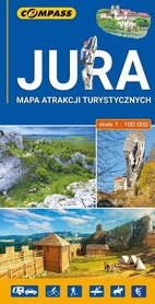 JURA MAPA ATRAKCJI TURYSTYCZNYCH 1:100 000 COMPASS