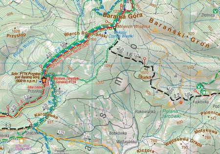 BESKID ŚLĄSKI mapa laminowana 1:50 000 COMPASS 2020 (2)