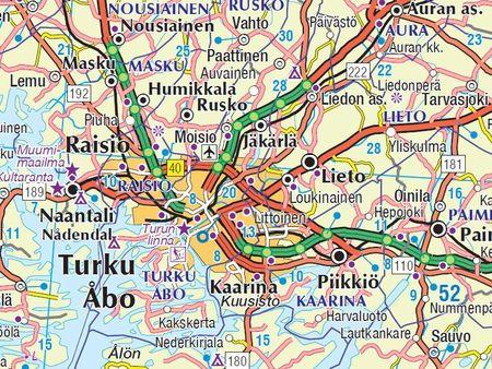 FINLANDIA mapa 1:800 000 Karttakauppa 2020 (2)