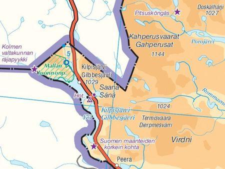 FINLANDIA mapa 1:800 000 Karttakauppa 2020 (3)