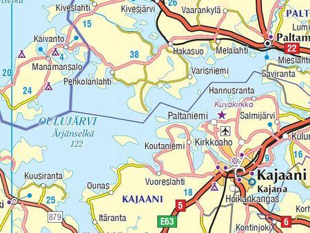 FINLANDIA mapa 1:800 000 Karttakauppa 2020 (4)