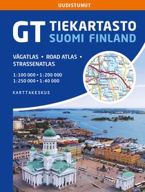 FINLANDIA atlas samochodowy 1:200T/1:250T Karttakauppa 2020