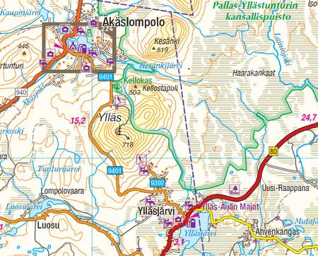 FINLANDIA atlas samochodowy 1:200T/1:250TKarttakauppa 2020 (3)