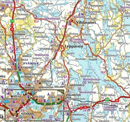 FINLANDIA atlas samochodowy 1:200T/1:250TKarttakauppa 2020 (5)