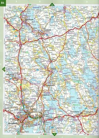 FINLANDIA atlas samochodowy 1:200T/1:250TKarttakauppa 2020 (6)