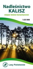 NADLEŚNICTWO KALISZ mapa leśno-turystyczna 1:55 000 TOPMAPA 2020