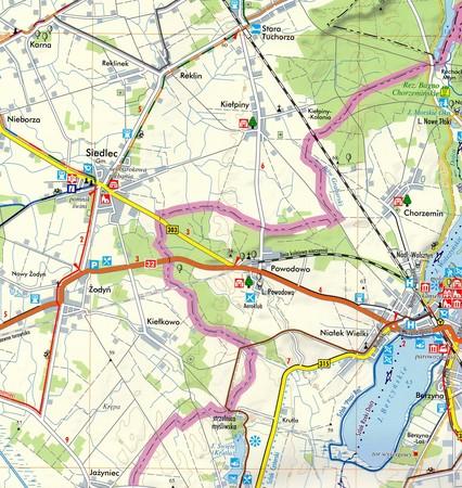 WOLSZTYN MIASTO I GMINA mapa turystyczna 1:50 000 TOP MAPA 2020 (3)