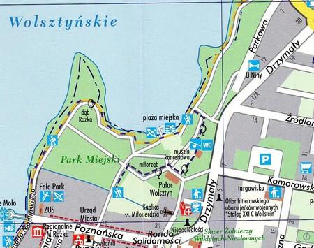 WOLSZTYN MIASTO I GMINA mapa turystyczna 1:50 000 TOP MAPA 2020 (4)