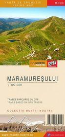GÓRY MARMAROSKIE Maramuresului  mapa turystyczna 1:65 000 S&F