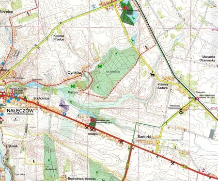 NAŁĘCZÓW I OKOLICE mapa turystyczna 1:25 000 KARTPOL (2)