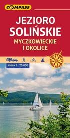 JEZIORO SOLIŃSKIE MYCZKOWIECKIE I OKOLICE mapa turystyczna 1:25 000 COMPASS 2020