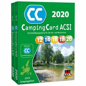 EUROPA Przewodnik CampingCard ACSI i karta rabatowa J.NIEMIECKI 2020