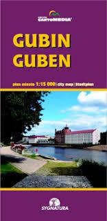 GUBIN GUBEN plan miasta 1:15 000 SYGNATURA
