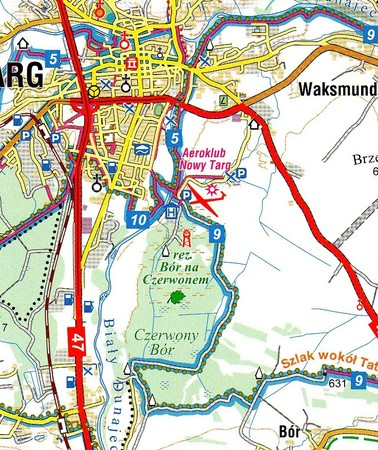 NOWY TARG I OKOLICE NA ROWERZE mapa 1:75 000 COMPASS 2020 (2)