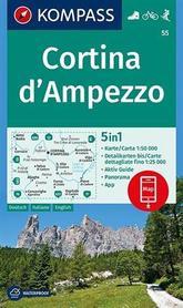 CORTINA D AMPEZZO 55 mapa turystyczna 1:50 000 KOMPASS