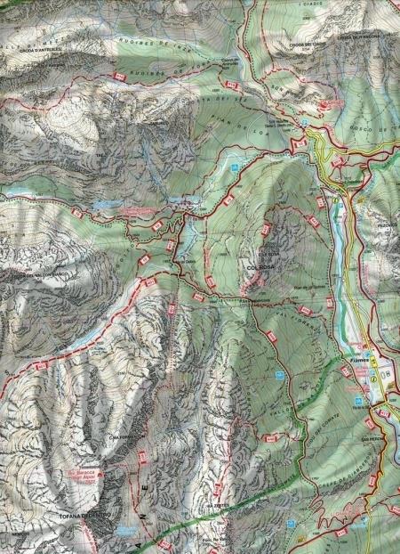 CORTINA D AMPEZZO 617 mapa turystyczna 1:25 000 KOMPASS (2)