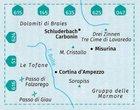 CORTINA D AMPEZZO 617 mapa turystyczna 1:25 000 KOMPASS (3)
