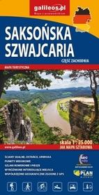 SAKSOŃSKA SZWAJCARIA CZ. ZACH mapa turystyczna 1:25 000 STUDIO PLAN 2020/2021